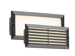 Knightsbridge LED 230V IP54 5W White LED Recessed Brick Light - Black Fascia BLED5BW