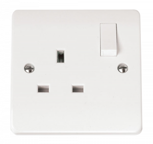 1-GANG DOUBLE POLE 13A SOCKET OUTLET SWI-CMA035-Scolmore
