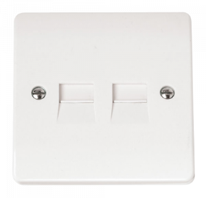 1G TWIN TEL.OUTLET M-CMA122-Scolmore