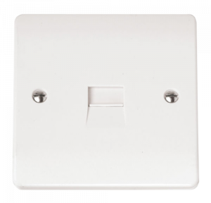 Click Scolmore 1 Gang Single Telephone Outlet Urea-Secondary (CMA124) Secondary