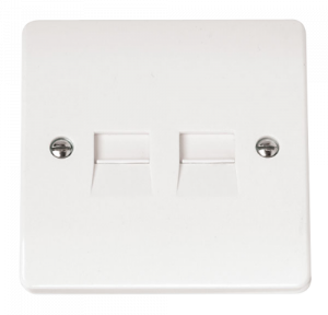 2G TWIN TEL.OUTLET S-CMA127-Scolmore
