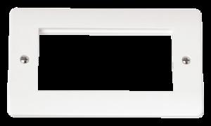 TWIN PLATE QUAD APERTURE FOR MEDIA MODUL-CMA312-Scolmore