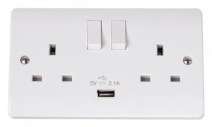 13A 2G SW SKT WITH 2.1A USB CHARGER MODE-CMA770-Scolmore
