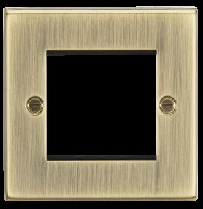 2G Modular Faceplate - Square Edge Antique Brass-CS2GAB-Knightsbridge