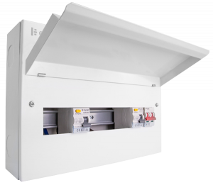 Elucian 10 Usable Ways Dual 80a RCD, 100a Main Switch Consumer Unit