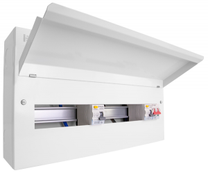 Elucian 16 Way Dual 80amp RCD with 100amp Main Switch Consumer Unit