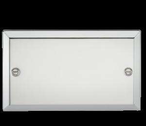 2G Blanking Plate - Bevelled Edge Polished Chrome-CV86PC-Knightsbridge