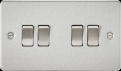 Flat plate 10A 4G 2-way switch-FP4100-Knightbridge