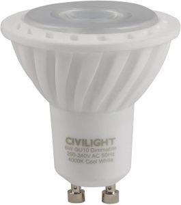 6W LED GU10 CERAMIV DIMMABLE