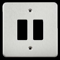 Flat plate 2G grid faceplate-GDFP002-Knightsbridge