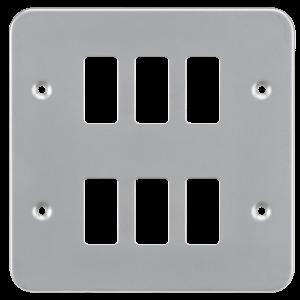 Metalclad 6G grid faceplate-GDFP006M-Knightsbridge