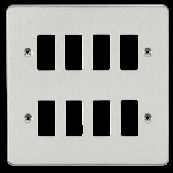 Flat plate 8G grid faceplate-GDFP008-Knightsbridge