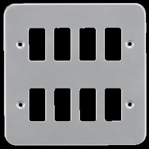 Metalclad 8G grid faceplate-GDFP008M-Knightsbridge