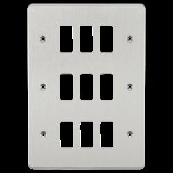 Flat plate 9G grid faceplate-GDFP009-Knightsbridge