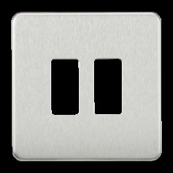 Screwless 2G grid faceplate-GDSF002-Knightysbridge