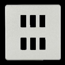 Screwless 6G grid faceplate-GDSF006-Knightsbridge