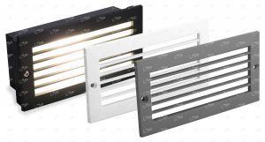All Led Satin Silver/White Grill for ABL240BK Brick Light