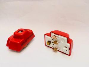 Hager Klik P64 4 Pin Plug Red