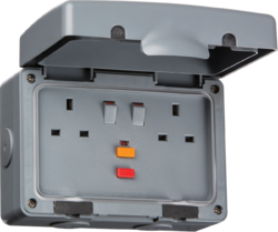 IP66 13A RCD 2G Switched Socket-IPRCD-Knightsbridge