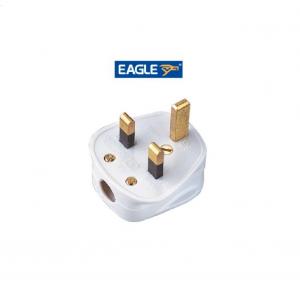 Eagle Standard 3 Pin UK Plug - WHITE