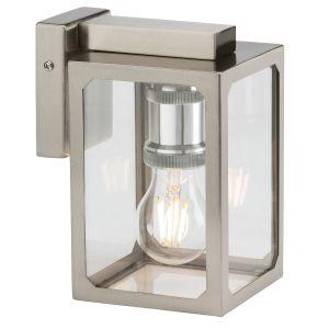 KnightsKnightsbridge 230V IP23 E27 Wall Lantern - Brushed Chromebridge 230V IP23 E27 Wall Lantern - Brushed Chrome