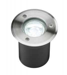 Knightsbridge 230V IP65 3W LED Stainless Steel Recessed Ground Light - 6000K
