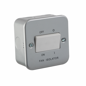 Metal Clad 10A Fan Isolator Switch-M1100-Knightsbridge