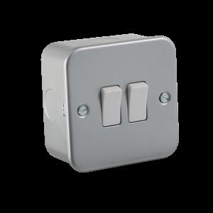 Metal Clad 10A 2G 2 Way Switch-M3000-Knightsbridge