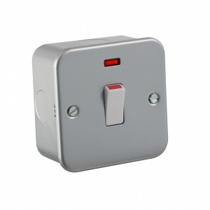 Metal Clad 20A 1G DP Switch with Neon-M8341N-Knightsbridge