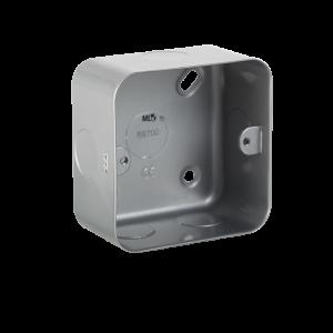 Metal Clad 1G Back Box-M8700-Knightsbridge