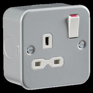 Metal Clad 13A 1G DP Switched Socket-MR7000-Knightbridge
