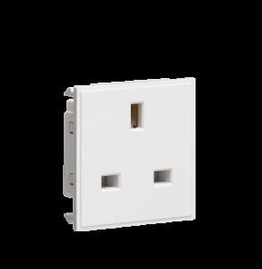 13A 1G unswitched socket module 50 x 50mm-NET13-Knightsbridge