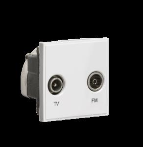 Diplexed TV /FM DAB Outlet Module 50 x 50mm-NETDITV-Knightsbridge