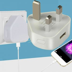 Black white 3pin USB Wall charger AC Wall Power Adapter Charger UK 3 Pins Plug for mobile phone/MP4/