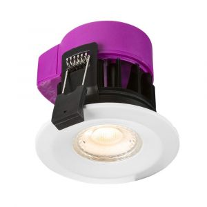 Knightsbridge RW6DTW 230V IP65 6W Recessed Fire-rated LED Downlight - Dim to ...