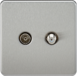 Screwless TV & SAT TV Outlet (Isolated)-SF0140-Knightsbridge