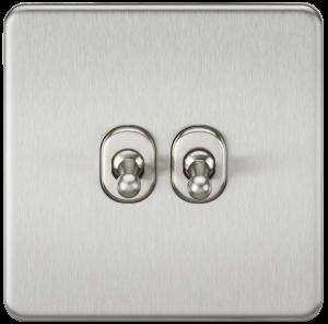 Screwless 10A 2G 2-Way Toggle Switch-SF2TOGBKnightsbridge