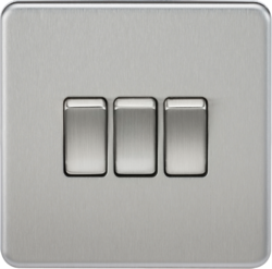Screwless 10A 3G 2-Way Switch - SF4000 - Knightsbridge