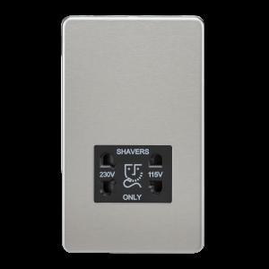 Screwless 115V/230V Dual Voltage Shaver Socket-SF8900-Knightsbridge