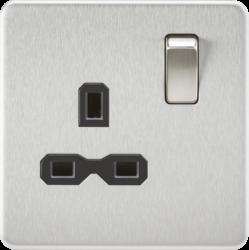 Screwless 13A 1G DP switched Socket-SFR7000-Knightsbridge