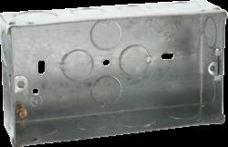 2G 35mm Galvanised Steel Box-SG235-Knightsbridge