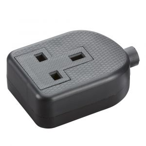 Kngitsbridge 13A 1G trailing socket - black