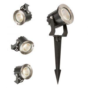 Knightsbridge IP65 LED Wall/Spike Spotlight, Aluminium, 5 W, Silver SPIKE5AL