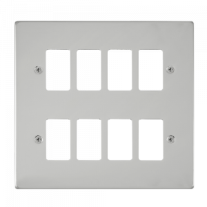 GRIDPRO 8 GANG DECO PLATE-VP**20508-Scolmore