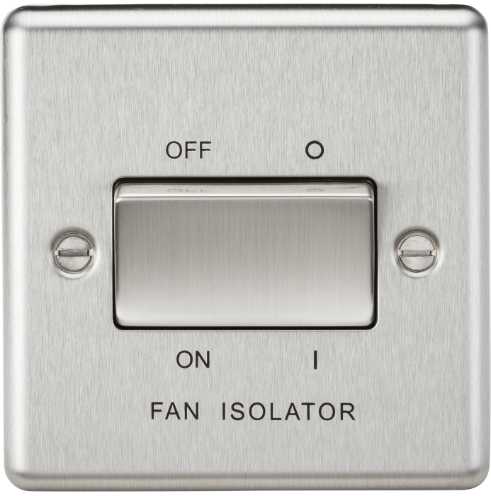 10a 3 Pole Fan Isolator Switch Rounded Edge Cl11bc Knightsbridge