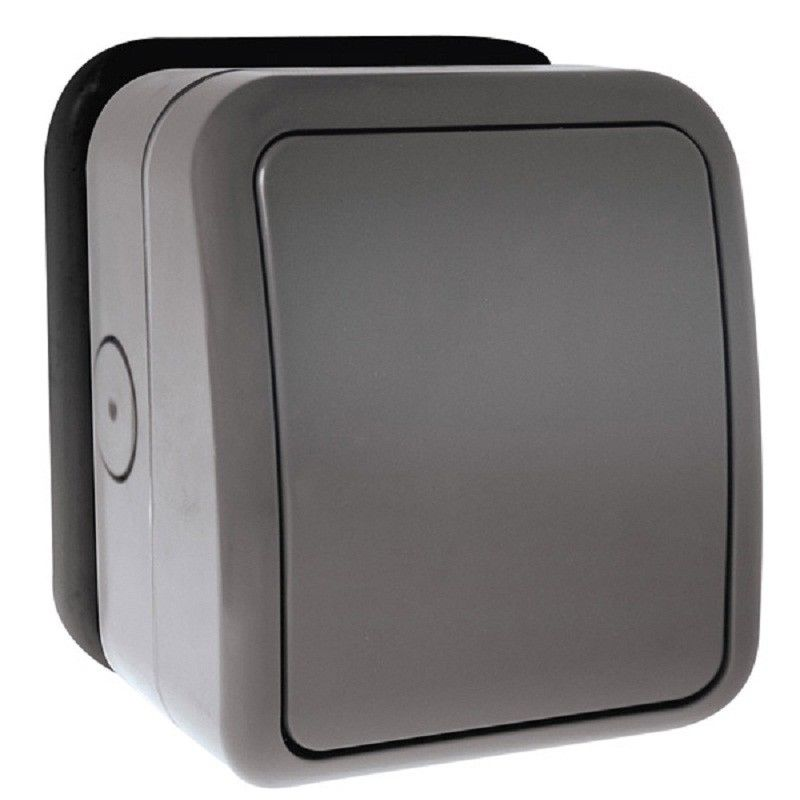 Click 1 Gang 2 Way Outdoor Ip66 Weatherproof Outside Light Switch Socket 20mm 738878158195